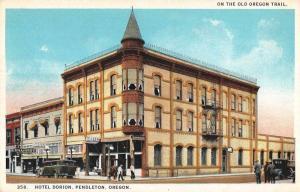 Pendleton Oregon Hotel Dorion Exterior View Antique Postcard J62062