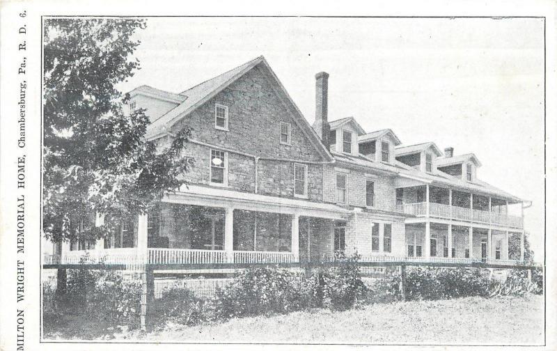 Kauffman Pennsylvania~Milton Wright Memorial Home~Orphanage~1930s B&W