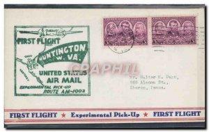 Letter USA 1st flight Huntington May 12, 1939