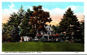 North Carolina Hendersonville Park Hill Hotel Curteich