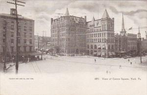 Pennsylvania York Street Scene View Of Centre Square 1906