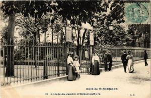 CPA PARIS 12e Bois de Vincennes Entrée du Jardin d'Arboriculture (672569)