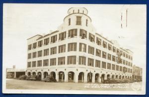 Hotel California ca El Centro street old autos 1940s real photo postcard RPPC