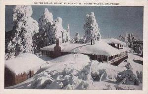 California Mount Wilson Mount Wilson Hotel Winter Scene