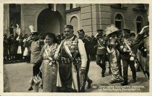 King Nikola I Petrović-Njegoš of Montenegro with Family (1910s) RPPC Postcard
