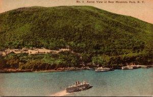 New York Bear Mountain Park Aerial View 1948 Handcolored Albertype
