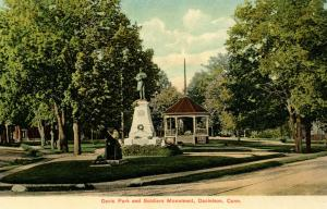 CT - Danielson.  Davis Park and Soldiers' Monument