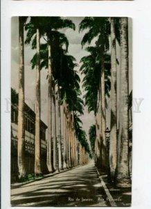 289513 BRAZIL RIO de JANEIRO Rua Paysandu Vintage tinted photo RPPC