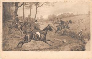 BR102897 c w faulkner london postcard painting from scent to view hunting art uk