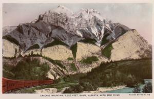 RP: Cascade Mountain & Bow River , BANFF , Alberta , Canada , 1920-40s