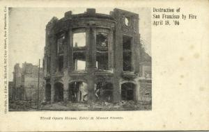 San Francisco, Destruction by Fire, Tivoli Opera House Eddy & Mason Streets 1906