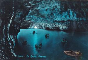 CAPRI, Row boats in the Blue Grotto, Naples, Campania, Italy, 50-70s