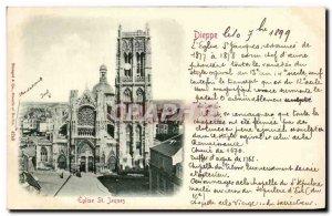 Old Postcard Dieppe Eglise Saint Jacques Map 1899