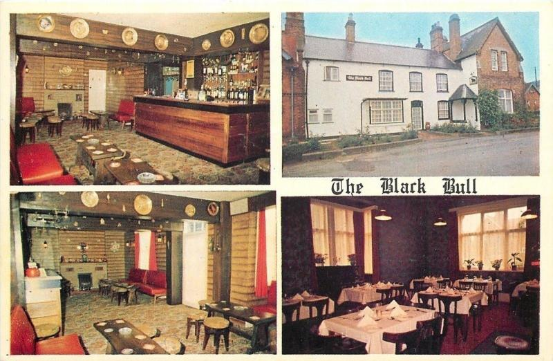 York New York~Black Bull Hotel~Building Front~Dining Area~1950s Sheppeard