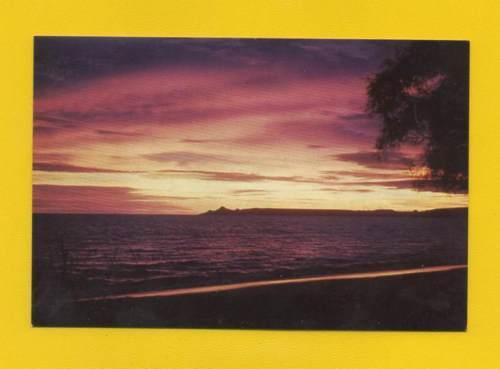 POSTCARD ANGOLA BENGUELA BAY & SUNSET 1960years PORTUGUES...
