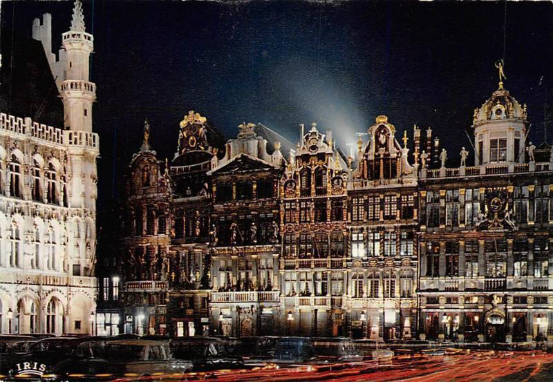 Belgium Brussels Illumination The Grand Place Vintage Cars Voitures