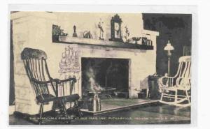 Interior, The Hospitable Fireside At Old Trail Inn, Putnamville, Indiana, 190...