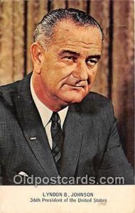 36th President Postcard Lydon B Johnson