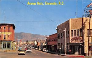 Enseneda Baja California~Avenue Ruiz~Main Street Shopping~1950s Cars~1966 PC