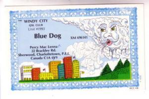 QSL, Blue Dog, a Cloud Blowing Wind Over Sherwood, Charlottetown, Prince Edwa...
