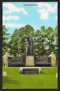 Illinois Monument Americus Georgia Unused c1955