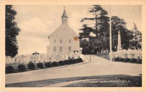 Freehold New Jersey Old Tennent Church Antique Postcard (J17911)