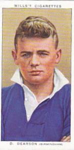 Wills Vintage Cigarette Card Association Footballers No 14 D Dearson Birmingh...