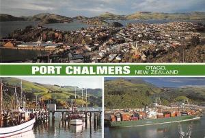 New Zealand Port Chalmers Otago Harbour Boats Bateaux Port Panorama