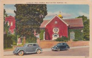 Old Saint Paul Church Built In 1739 Norfolk Virginia 1943