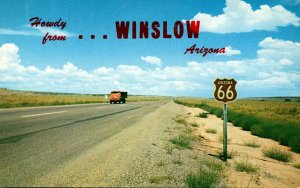 Arizona Howdy From Winslow On Route 66