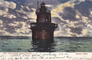 Deer Island Lighthouse Boston Harbor Massachusetts 1907
