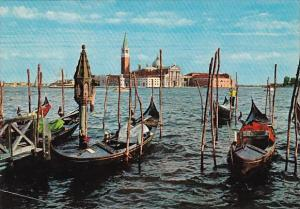 Italy Venezia Gondolas and Isola San Giorgio