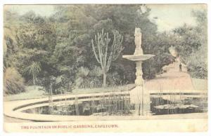 The Fountain In Public Gardens, Capetown, South Africa, PU-1912