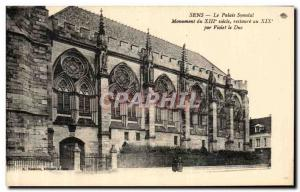Old Postcard The Synodal Sens Palace restored by Violet le Duc