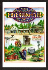 ME View Farm Museum Fryeburg Fair MAINE Postcard PC