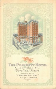 The Poinsett Hotel Fireproof Greenville SC 1941 Gateway to Land of the Sky