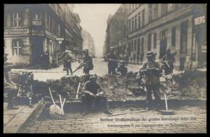 German Revolution 1919 Berlin Strassenkampf Freikorps RPPC 91554