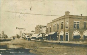 1911 Madison Lake South Dakota Street View Buggy Wagon RPPC Photo Postcard