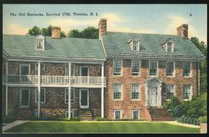 New Jersey The Old Barracks Trenton NJ Tichnor 1941 Linen Postcard