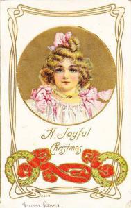 A Joyful Christmas, Portrait of girl with big blue eyes, 10-20s