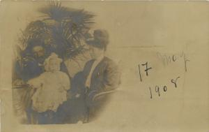 Brooklyn NY Danish Hilset Greetings Hagland Family and Fern RPPC 1908