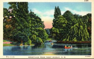 New Hampshire Greetings From West Rindge Curteich