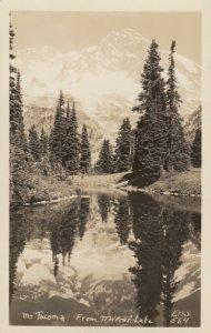 RP: MT TACOMA, Washington, 1920s-40s;  From Mirror Lake ; ELLIS 564