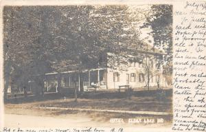 F10/ Clear Lake Indiana RPPC Postcard 1908 Hotel Building