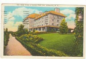 Side view of Grove Park Inn, Asheville North Carolina,PU-1939