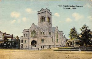 Newark Ohio~First Presbyterian Church~Bicycle Shop~McCanon's Studio~House~1914