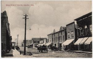 Colfax WI 1907 Wisconsin Main Street St. South Wagon Bank EARLY DB RARE Postcard