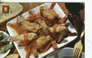Postal  003850: Iberia:  Platos tipicos: pollo al chilindron