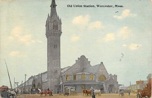 Old union station Worcester, Massachusetts, USA Railroad, Misc. Writing on Back