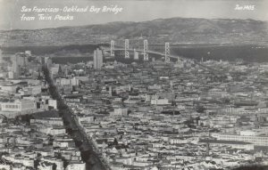 RP: CALIFORNIA, 1952; San Francisco-Oakland Bay Bridge from Twin Peaks